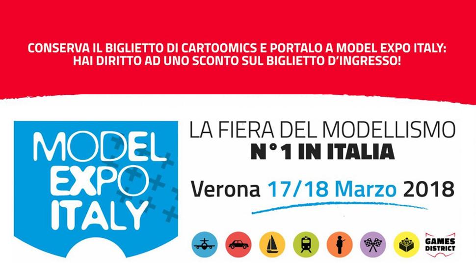 Con il biglietto di Cartoomics entrare a Model Expo Italy costa meno!