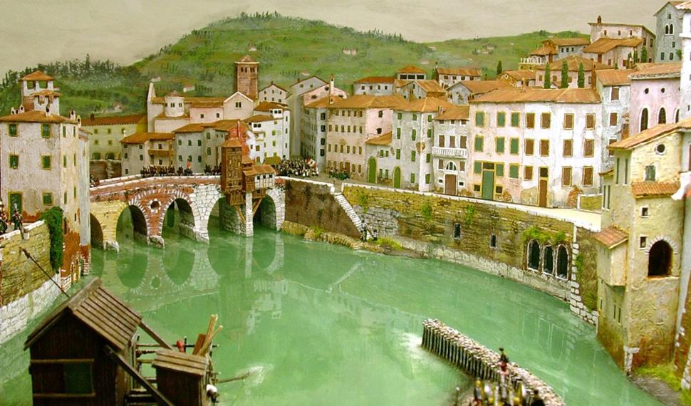 La Verona napoleonica a Model Expo Italy nei plastici di Giorgio Frildini
