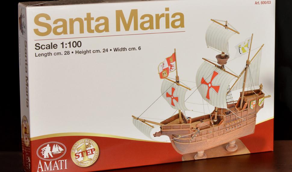La Santa Maria: è pronto il kit per gli aspiranti navimodellisti