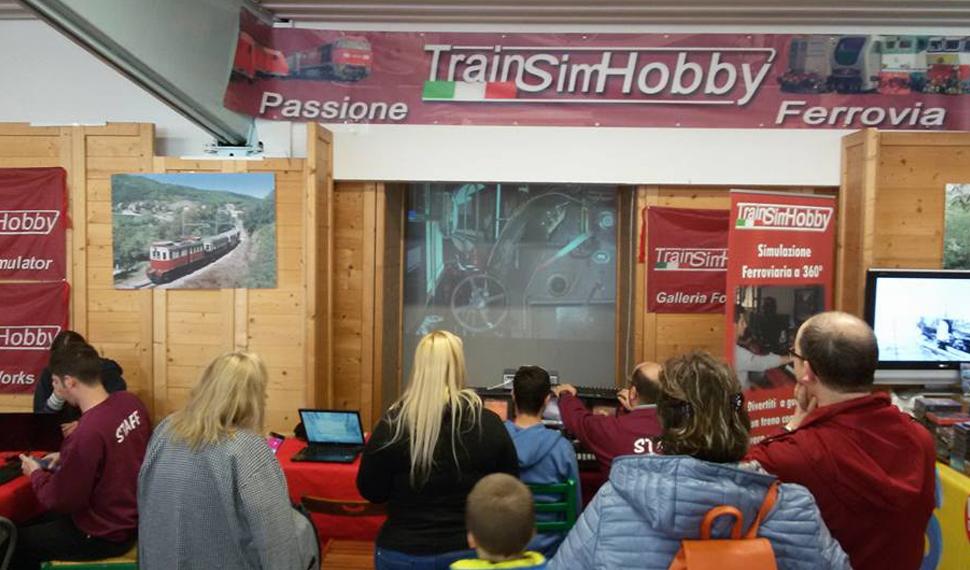 Alla guida di un treno, a Model Expo Italy con i simulatori virtuali della Microsoft