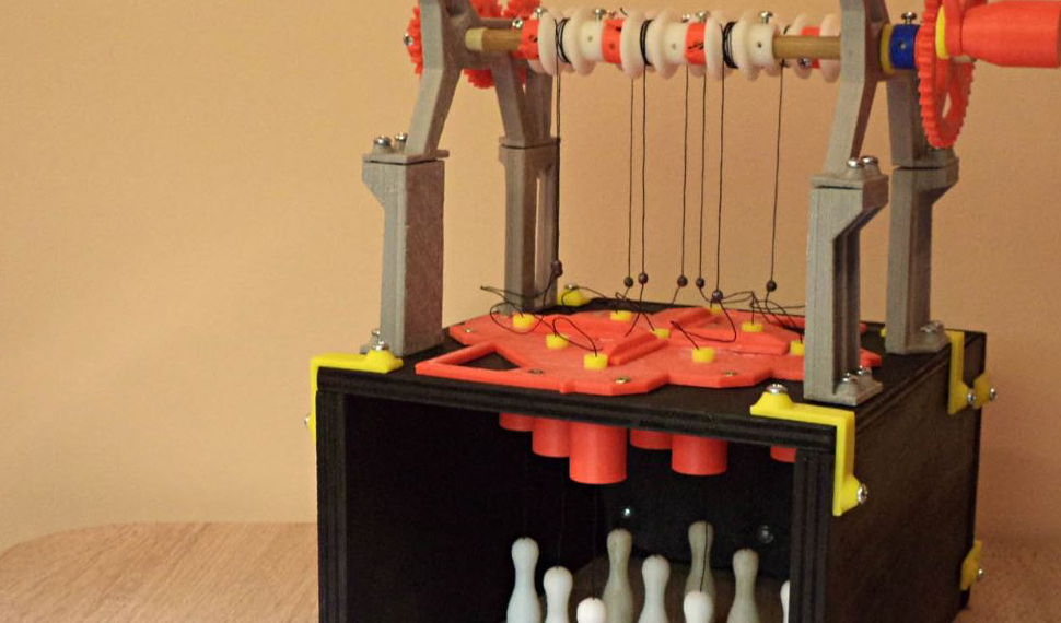 Il mini bowling da tavolo realizzato in 3D