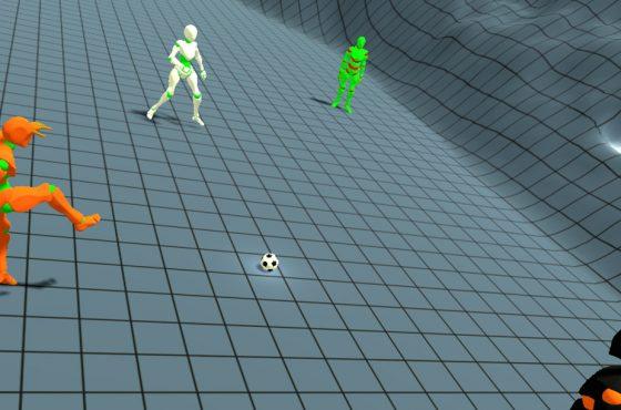 Giocare a calcio con lo smartphone nel calzino